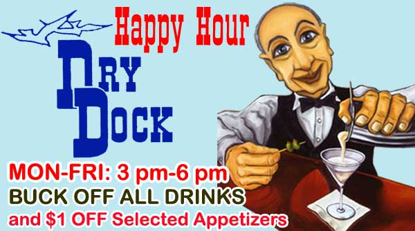 Happy Hour at the Dry Dock Restaurant